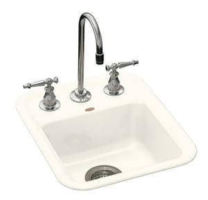 KOHLER Aperitif™ 2-Hole Topmount Bar Sink in Biscuit K6560-2-96