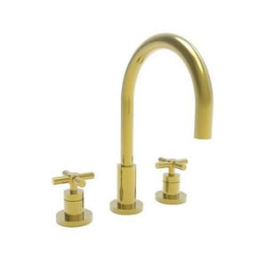 Newport Brass East Linear Two Handle Bathroom Sink Faucet in Forever Brass - PVD N990/01