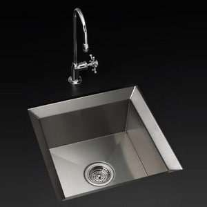 KOHLER Poise® 18 x 18 in. No-Hole Undermount Bar Sink in Stainless Steel K3391-NA