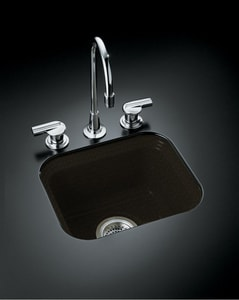 KOHLER Northland™ 15 x 12-3/8 x 7-5/8 in. Single-Bowl Bar Sink in Black/Tan K6589-U-KA