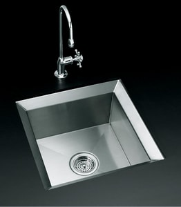 KOHLER Poise® 18 x 18 in. Undermount Stainless Steel Bar Sink K3161-NA