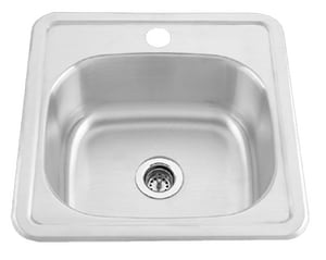 PROFLO® 22 ga Single Hole Stainless Steel Bar Sink  Stainless Steel PFT151561
