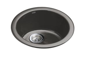 KOHLER Porto Fino™ 18-3/8 x 8-5/8 in. Single Bowl Drop-In Bar Sink No Hole in Thunder Grey K6565-58