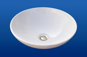 Barclay Products Limited Diana No-Hole Above-Counter Vessel Lavatory Sink in White B4463WH