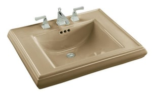 Kohler Memoirs® 8-7/8 in. 3-Hole 1-Bowl Pedestal Lavatory Sink in Mexican Sand K2259-8-33