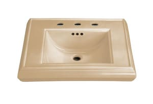 Kohler Memoirs® 3-Hole Bathroom Rectangular Lavatory Sink with 8 in. Faucet Centerset and Center Drain in Mexican Sand K2239-8-33