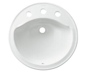 Sterling Modesto™ Drop-in Basin in White S4419080