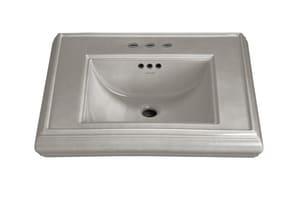Kohler Memoirs® 1-Hole Pedestal Rectangular Bathroom Sink with Center Drain in Cashmere K2239-1-K4