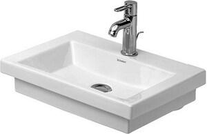 Duravit 2nd Floor 1-Hole Ceramic Handrinse Basin in White D07905000001