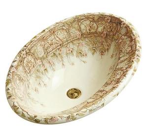 Kohler 9 in. No-Hole Drop-In Bathroom Sink in Biscuit K14274-BR-96