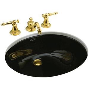 KOHLER Caxton® Dual Mount Basin in Black Black™ K2210-G-7
