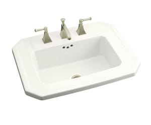 Kohler Kathryn® 1-Hole Drop-In Bathroom Sink in White K2325-1