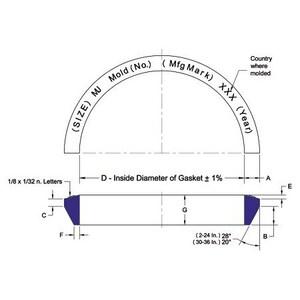 14 in. Mechanical Joint Gasket MJGA14