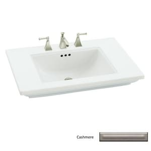 Kohler Memoirs® Stately 1-Hole Bathroom Rectangular Lavatory Sink with Rear Drain in Cashmere K2269-1-K4