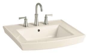 Kohler Archer® 3-Hole Pedestal Bathroom Sink in Almond K2358-4-47
