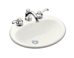 KOHLER Ellington® Drop-in Bathroom Sink in White K2906-8-0
