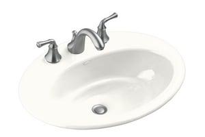 KOHLER Thoreau® Drop-in Basin in White K2907-8-0