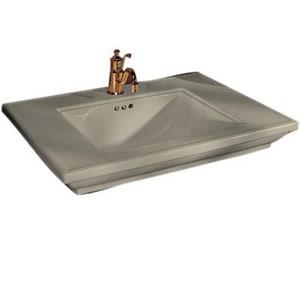 Kohler Memoirs® 3-Hole Bathroom Rectangular Lavatory Sink with 8 in. Faucet Centerset and Center Drain in Sandbar K2269-8-G9