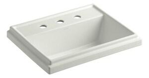 Kohler Tresham® 3-Hole Drop-In Rectangular Bathroom Sink with Overflow in Dune K2991-8-NY
