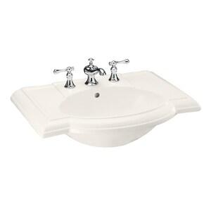 KOHLER Devonshire® 1-Bowl Lavatory Sink with Centerset in Biscuit K2295-4-96