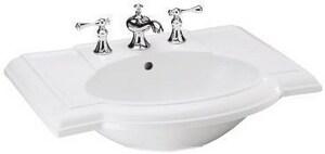 Kohler Devonshire® 3-Hole Bathroom Oval Lavatory Sink with 4 in. Faucet Centerset in Black Black K2295-4-7