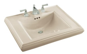Kohler Memoirs® 8-7/8 in. 1-Hole Pedestal Bathroom Sink Basin in Almond K2259-1-47