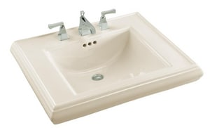 Kohler Memoirs® 1-Hole Bathroom Rectangular Lavatory Sink with Rear Center Drain in Biscuit K2259-1-96