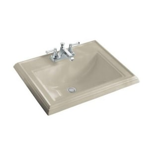 Memoirs® 22-3/4 x 18 in. 3-Hole Lavatory Sink for 8 in. Widespread Faucet Hole in Sandbar K2241-8-G9