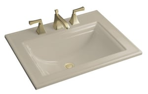 Kohler Memoirs® 1-Bowl Drop-In Lavatory Sink with Centerset Faucet in Sandbar K2337-8-G9