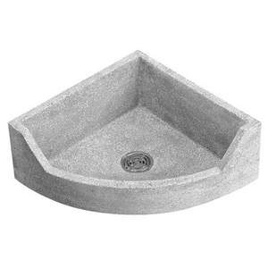 Fiat Products Stockton 28 X 28 In Mop Basin In Grey