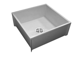 Fiat Products Molded Stone® 24 x 24 in. Mop Basin in White FMSBID2424