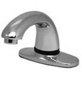 Technical Concepts 1-Hole Battery Surround Sensor Faucet with 4 in. Cover Plate in Polished Chrome T500484