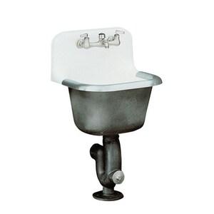KOHLER Bannon 24 x 20 in. Cast Iron Service Laundry Sink White K6716-0