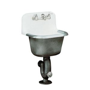 KOHLER Bannon 22 x 18 in. Cast Iron Service Laundry Sink White K6714-0