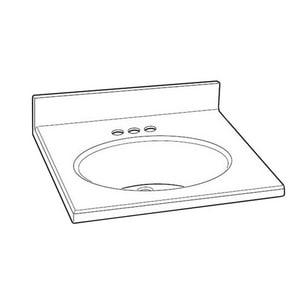 American Standard Astra-Lav™ Vanity Top in Bone ACMR3122608