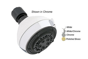 Alson's 2.5 gpm 5-Function Plastic Showerhead in Polished Chrome D635CPK