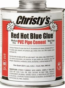 T Christy Enterprises Red Hot Blue Glue 1 Qt Fast Set Plastic Blue Pipe Cement Rh Rhbg Qt 12 Ferguson