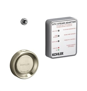 KOHLER Fast Response® 4,500 W Steam Adapter Kit in Vibrant Brushed Nickel K1737-BN