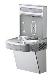 Elkay EZH2O® 39-1/16 in. 8 gph Bottle Filling Station with Single Filtered LZ Cooler in Stainless Steel ELZS8WSS