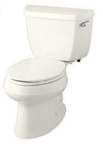 KOHLER Wellworth® 1.28 gpf Elongated Toilet in Biscuit with Right-Hand Trip Lever K3575-RA-96