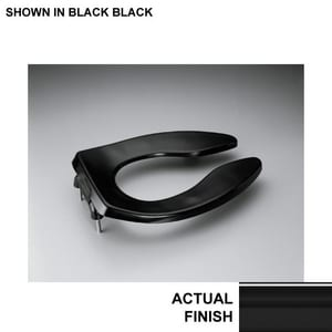 Terrific Kohler Lustra Elongated Open Front Toilet Seat In Black Machost Co Dining Chair Design Ideas Machostcouk