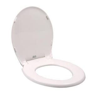 American Standard Rise-and-Shine® Plastic Round Toilet Seat in White A5322011020