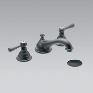 Moen Kingsley™ Two Handle Widespread Bathroom Sink Faucet in Wrought Iron MT6105WR