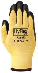 Ansell Occupational Healthcare HyFlex® Size 10 Ultra Lightweight Assembly Gloves in Black and Yellow ANS103339