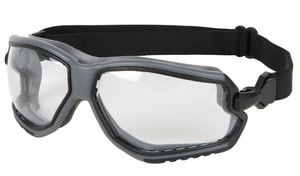 Crews Forceflex™ Clear Anti-Fog Lens Grey Frame Safety Glasses CFFG110AF