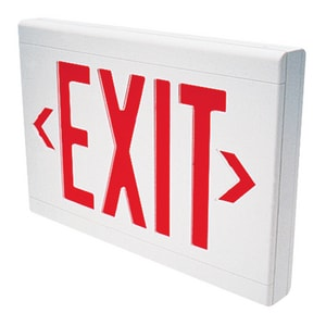 Dual-Lite Battery Back Up LED Exit Sign Green Letters DLXUWE