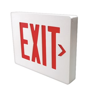 Dual-Lite Battery Back Up LED Exit Sign Green Letters DSESGWE