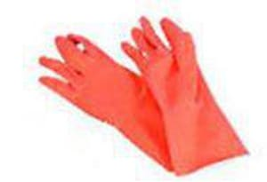 Galaxy L Size Reusable Flock Lined Latex Gloves GLX244L