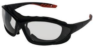 Jackson Safety V50 Epic Clear Lens Black and Red Frame Safety Glasses J33345