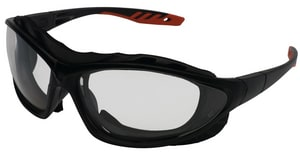 Jackson Safety V50 Epic Indoor or Outdoor Black and Red Frame Lens Safety Glasses J33347